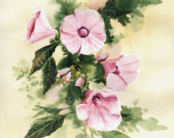 Original art (NO PRINT!) Tree mallow