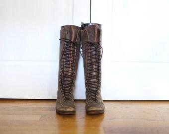 Vintage 1930s Women's Boots size 5 size 36