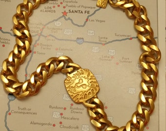 Fabulous Signed ANNE KLEIN Lion Necklace