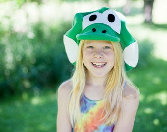 Super Mario Brothers Inspired- Child's Fleece YOSHI Hat - Dress Up - Make Believe