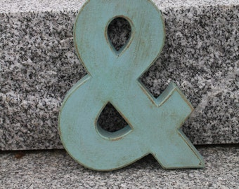 """8"""" Painted Ampersand (&).Vintage Style. Industrial style Ampersand. Wedding Decor. Wedding Gift. Custom Color. Ampersand decor"""
