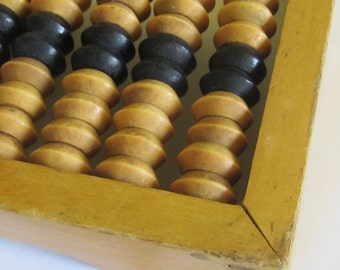 Vintage wooden  Abacus, 1960s, school abacus,   Home decor