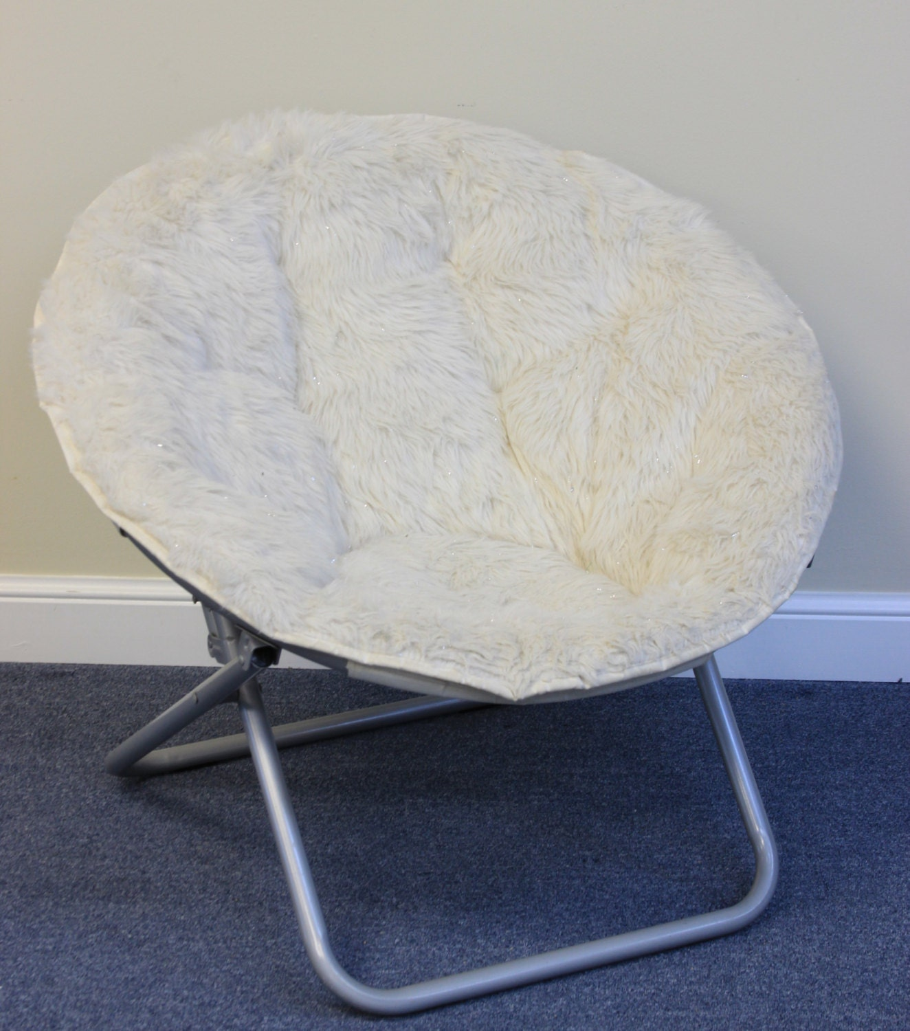 Faux Fur Fold Out Bowl Chairs