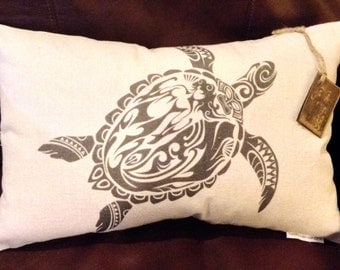 Tribal Turtle Pillow