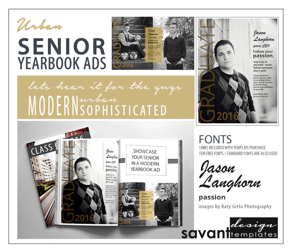 yearbook ads senior graduation photoshop templates urban 🔎zoom