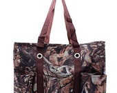 Monogrammed Canvas Utility Tote Camo Personalized