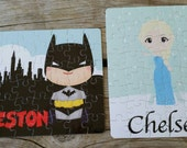 SALE** (batman included) Personalized character puzzles -- 30 pieces. Many choices