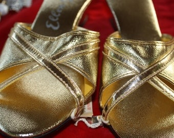 1960's Fancy Gold Sandals NWT