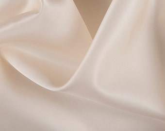 "54"" Wide 100% Silk Satin Organza Cream by the yard"