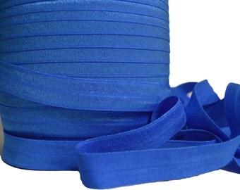 "Royal Blue Fold Over Elastic, 5/8"". Royal Blue FOE. 5 Yards. SFOE- 3005"