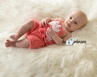Newborn  and 3 Months Old Baby Knit Jumpsuit
