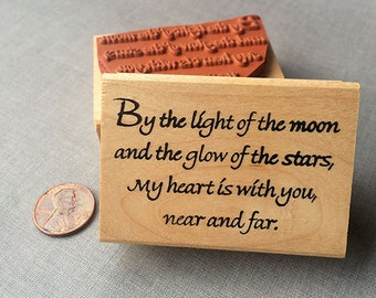 By the Light of the moon Rubber Stamp