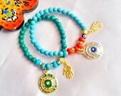 SALE--GYPSY NAZAR bracelets -ethnic bracelets -bohemian bracelets -middle eastern bracelets -Turkish bracelets