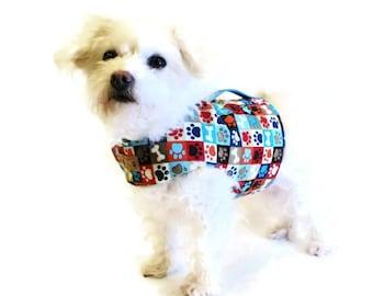 Paw Print Dog Harness - Dog Clothes - Custom Dog Harnesses - Dog Clothing - Clothes for Dogs - Harnesses for Dogs - Dog Coat - Dog Jacket