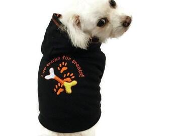 Dog Hoodie - Halloween Dog Hoodie - Dog Costume - Black Dog Hoodie- Dog Halloween Shirt - Dog Sweater - Halloween Dog Costume