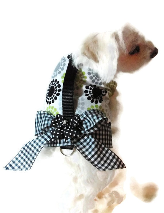 Dog Harness Dog Clothes Black and White Dog Harness pet clothing dog clothing pet clothes dog clothes