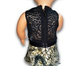 "Faux Snake  w/lace back Top & Leggings Outfit 18"" Doll Clothes [41919B]"