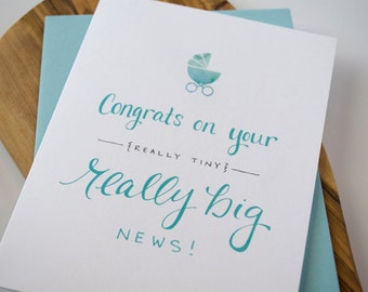 Really Big News Greeting Card