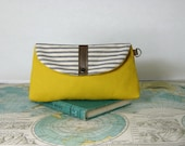 Sunny day-- Make up bag // Clutch // Small tablet case // Pencil pouch // Bridesmaid gift // Vegan // Ready to ship