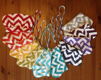 Chevron Clutch/Wristlet Choose your own fabric