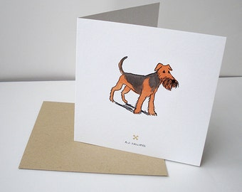 For the Love of Dog Airedale Terrier Greetings Card
