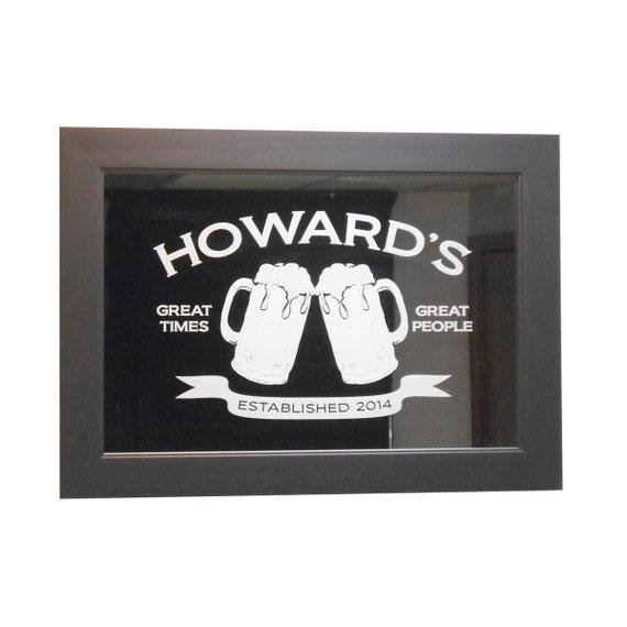 bar mirrors items similar to custom bar mirror 12 x 18 w hardwood frame