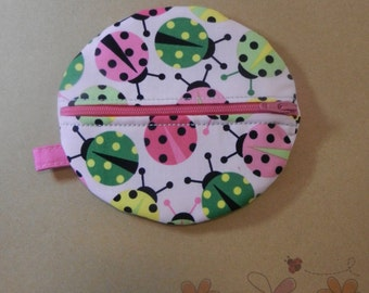 Baby Girl Paci Pod In Lady Bug Fabric READY TO SHIP!!
