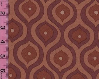 Olive Rose Chocolate Brown Curves fabric by Valori Wells for FreeSpirit Fabrics - 1/2 yard