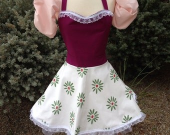 Tightrope Walker Ballerina apron with sleeve puffs