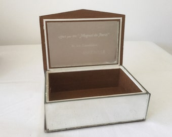 Jewelry box vintage Miror coffer jewels 60' storage box 1960 Miror jewels case