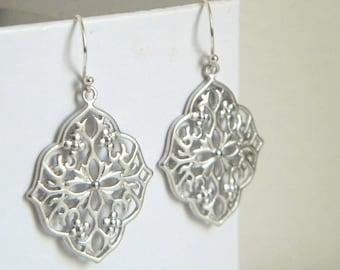 Silver Moroccan Filigree Earrings
