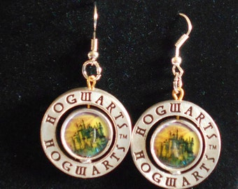 Harry Potter Hogwarts 360 Turn Earrings (Free U.S. Shipping)