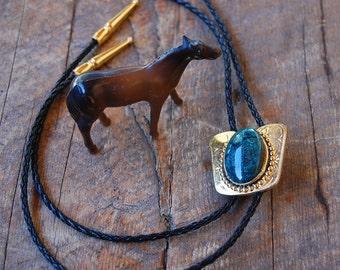 vintage BOLO Turquoise Stone cowboy cowgirl western southwest