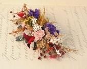 Flower Wedding Hair Piece, Rustic Headpiece, Dried Flower Hair Comb, Native Flowers, Wildflowers, Australia, Floral Hair Accessory,