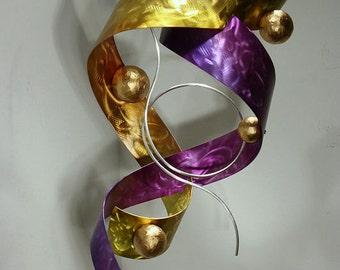 Alex Kovacs - Metal Hanging Sculpture Abstract Decor Painting, Metal Modern Wall Art, Metal Wall Sculpture, Original Art - AK403