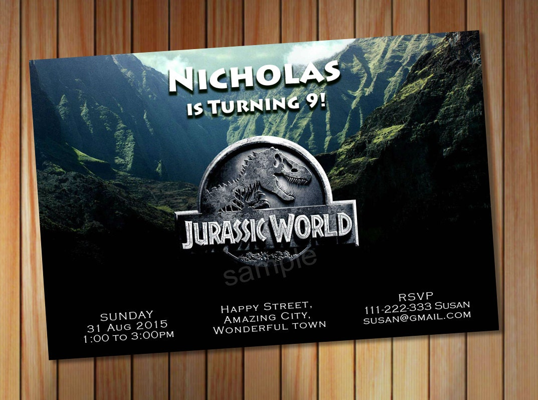 Jurassic World Invitation Jurrasic Party By