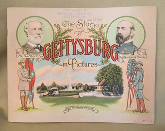 C. 1935 'The Story of Gettysburg in Pictures' Book- excellent condition