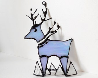 The Happy Deer. Home Decor. Suncatcher. Christmas Decoration, Ornament