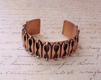 "Beautiful 1950's Copper Cuff Bracelet Signed: ""Renoir"""