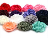 LAYERED Singed Satin Flowers Wholesale, Satin Singed Flower Supply- Set of 6
