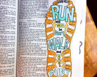 Bible Journaling Bible Verse Art Bible Verse Print great for faith journals Art Journal Run, Walk, Shoe Faint Not Isaiah 40:31