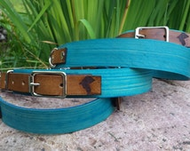 Teal & Timber Adjustable Leather Martingale Dog Collar