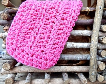 Crochet Wash Cloth  Crochet Dish Clothes, Pink Cotton, Crochet Wash Cloths, Crochet Kitchen Accessories, Hostess Gift, Housewarming