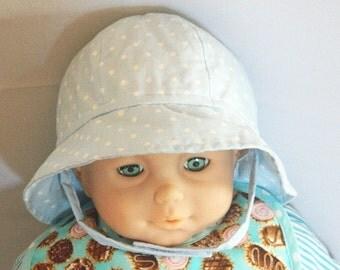 Cotton Polka Dot Sun Hat - Infant to Toddler to Preschool