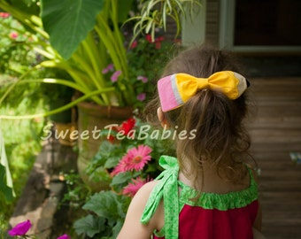 Back to school Pencil hair bow - fabric bow