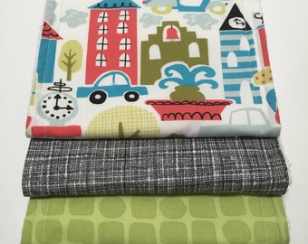 Busy City Burp Cloths (Set of 3)