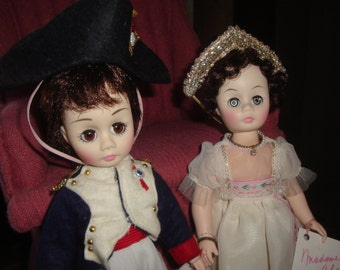 "Madame Alexander Napoleon and Josephine vintage 12"" dolls"