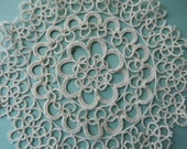 Tatted Doily - Vintage Tatted Doily - Round Tatted Doily - Antique Doily - Vintage Doily - Round Doily