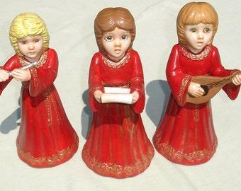 Vintage Musical Ceramic Carolers - 3 pcs