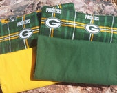 Set of 2 Green Bay Packers Burp Cloths